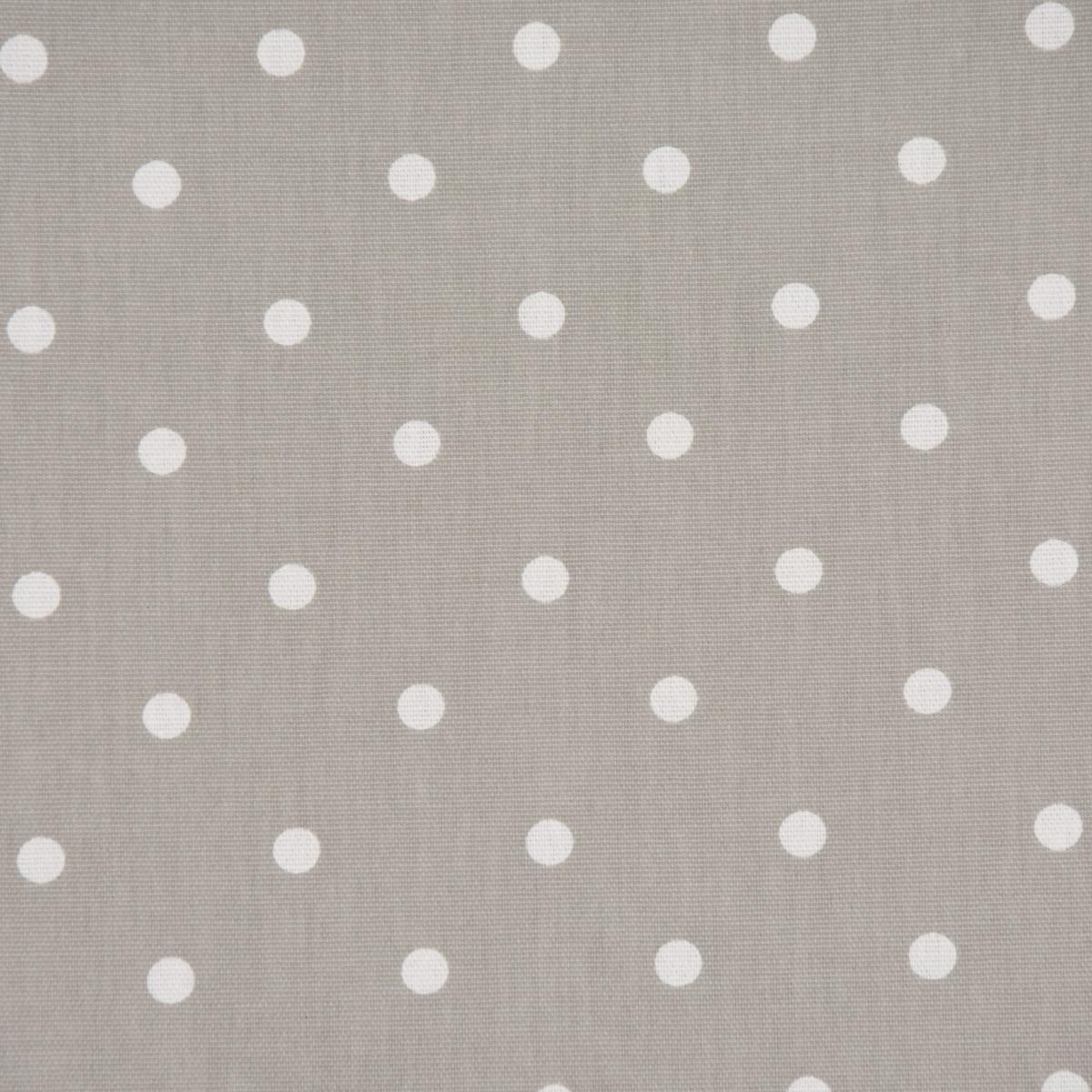 Gardinenstoff Dekostoff Baumwollstoff Full Stop Punkte grau weiß 140cm Breite