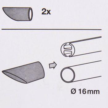 Serie Boston Endstücke Cut 2 Stück Ø16mm edelstahl-optik  – Bild 2