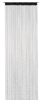 Fadenvorhang Fadengardine Charleston schwarz 90x250cm – Bild 1