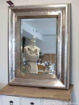 Spiegel Wandspiegel Rahmen silber 70x90cm