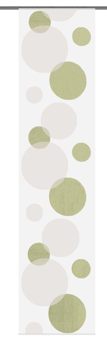 Schiebevorhang Flächenvorhang Flächenschal Scherli-Kreise grün 60x245cm