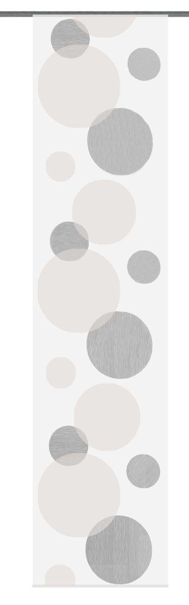 Schiebevorhang Flächenvorhang Flächenschal Scherli- Kreise braun 60x245cm