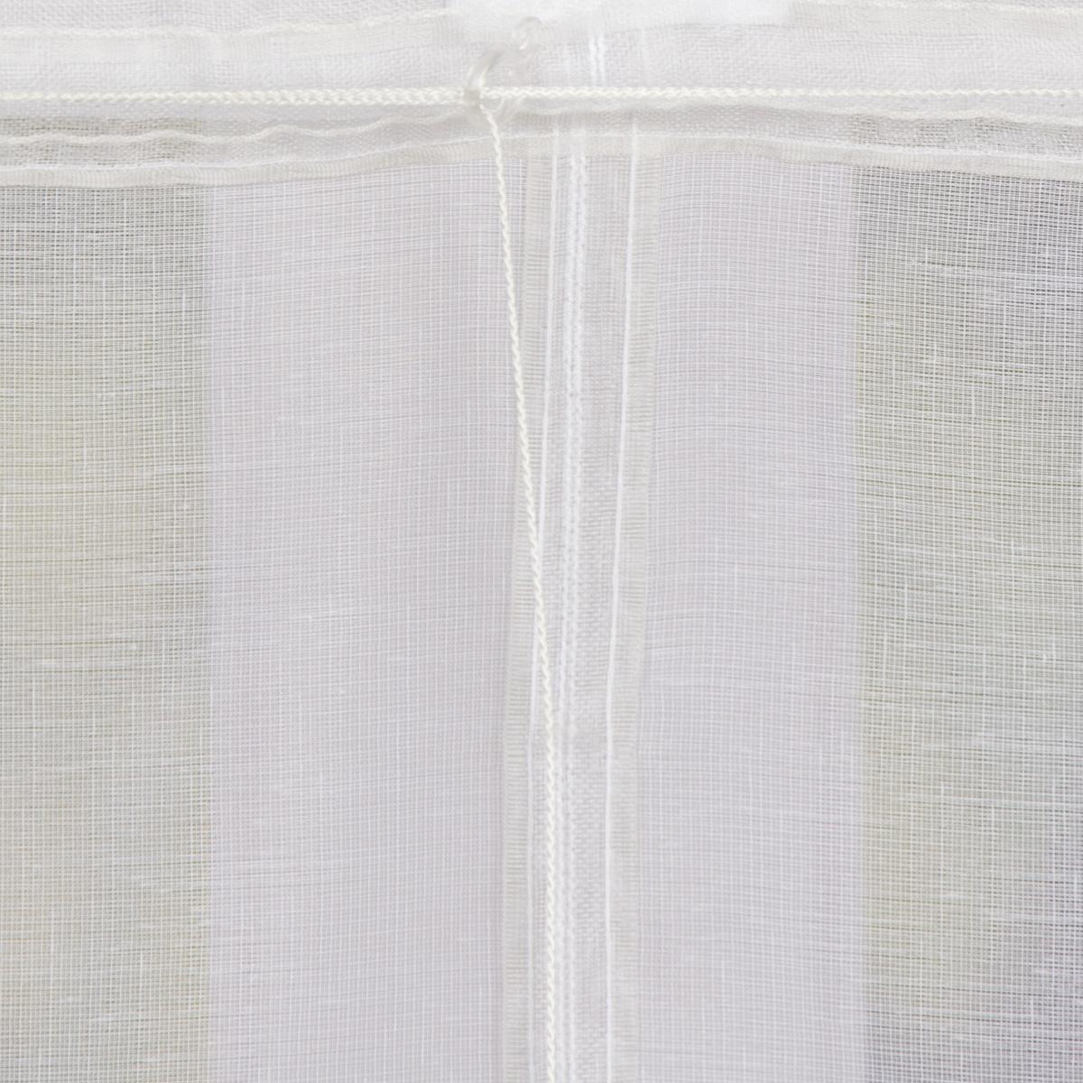 raffrollo rollo schlaufen wei transparent mit streifen 100x140cm inspirationen stilwelten. Black Bedroom Furniture Sets. Home Design Ideas