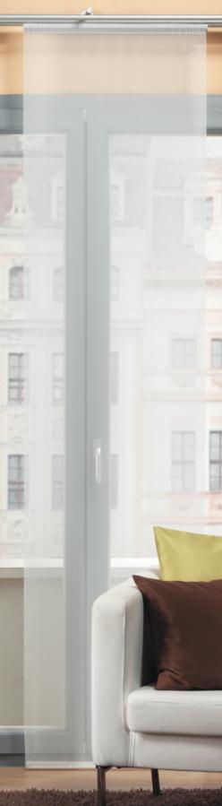 Schiebevorhang Flächenvorhang Flächenschal uni wollweiß 60x245cm