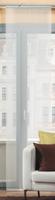 Schiebevorhang Flächenvorhang Flächenschal uni wollweiß 60x245cm 001
