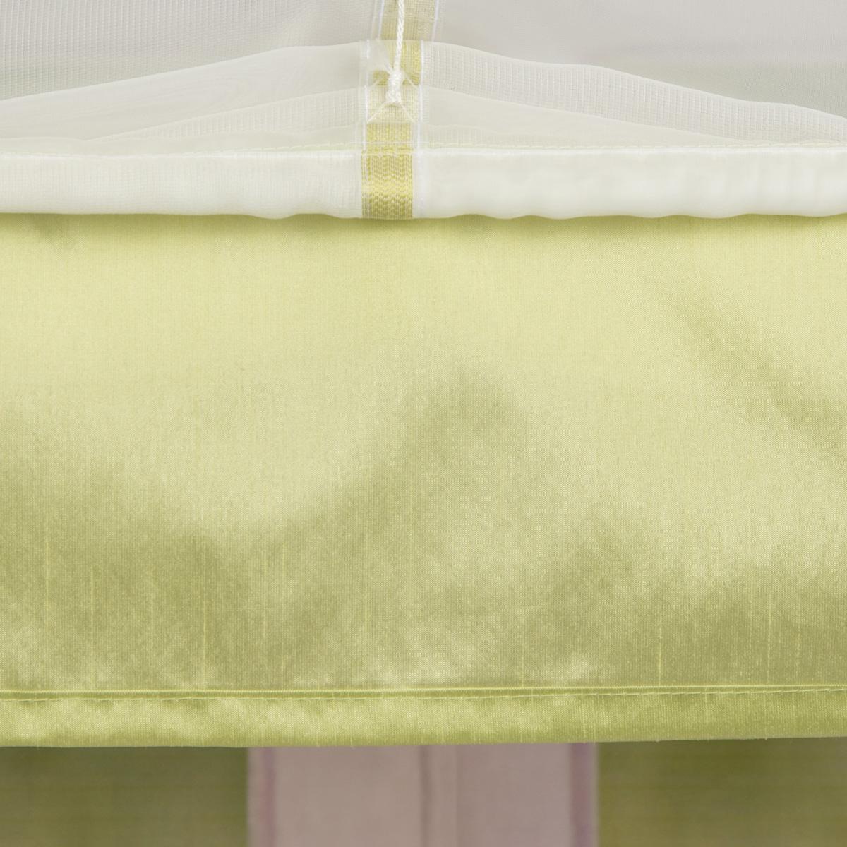raffrollo rollo schlaufen wei transparent mit gr nen streifen 120x140cm gardinen fertiggardinen. Black Bedroom Furniture Sets. Home Design Ideas