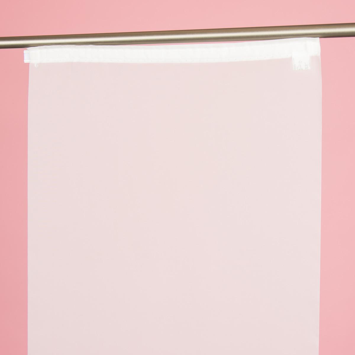 Schiebevorhang Flächenvorhang Eva uni weiß 245x60cm