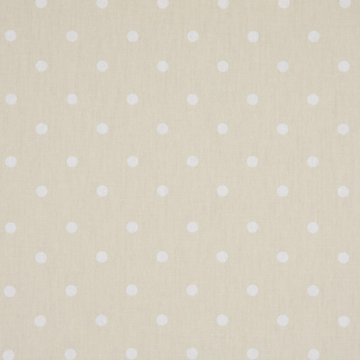 Gardinenstoff Dekostoff Baumwollstoff Full Stop Punkte beige weiß 140cm Breite