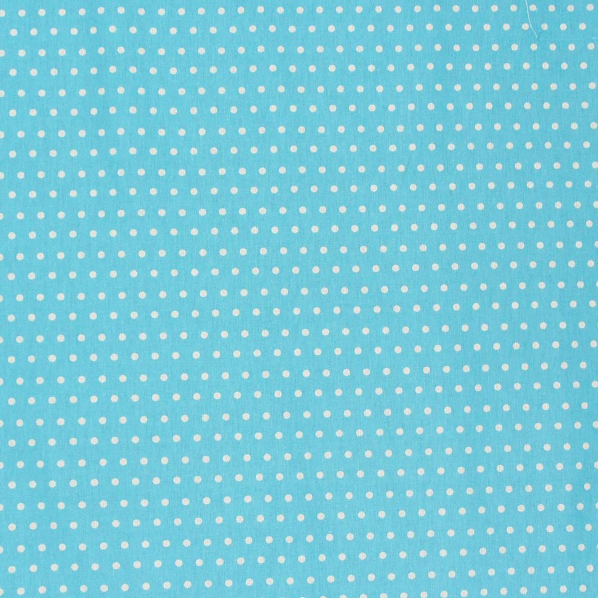 Baumwollstoff blau Punkte klein weiß Dekostoff