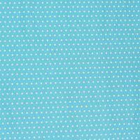 Baumwollstoff blau Punkte klein weiß Dekostoff 001