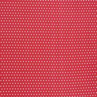 Baumwollstoff rot mit weißen Punkten Punkte klein Dekostoff  001