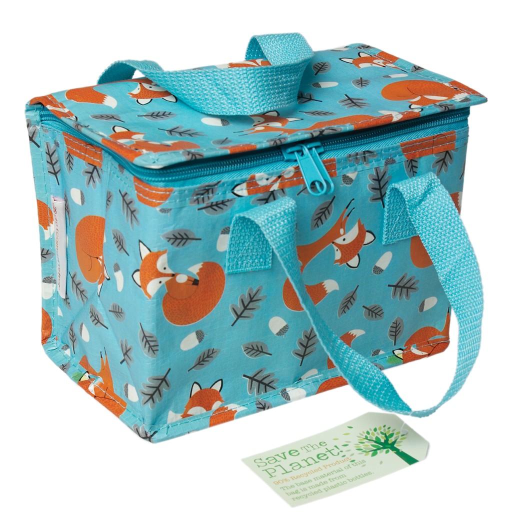 Tasche Kühltasche Fuchs blau aus recycelten Material 16x21cm