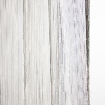 Schlaufenschal Fertigvorhang Delhi silber 135x260cm – Bild 1