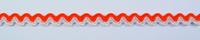 Zackenlitze Zierband orange weiß Breite: 1cm 001
