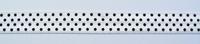 Gummiband Elastic Schrägband Zierband weiß schwarz Punkte Breite: 1,5cm 001