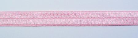 Gummiband Elastic Schrägband Zierband rosa weiß Punkte Breite: 1,5cm