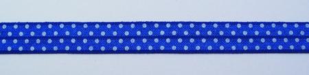Gummiband Elastic Schrägband Zierband blau weiß Punkte Breite: 1,5cm