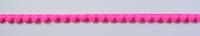 Bommelborte PomPom Borte Zierband mini neon pink Breite: 0,4cm