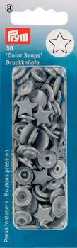 Prym Color Snaps Druckknöpfe Ø12,4mm silbergrau