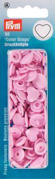 Prym Color Snaps Druckknöpfe Herz 12mm rosa