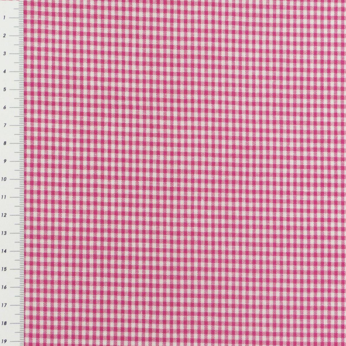 Baumwollstoff kariert weiß pink 2mm