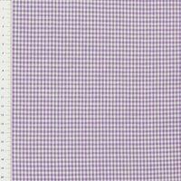 Baumwollstoff kariert weiß lila 2mm