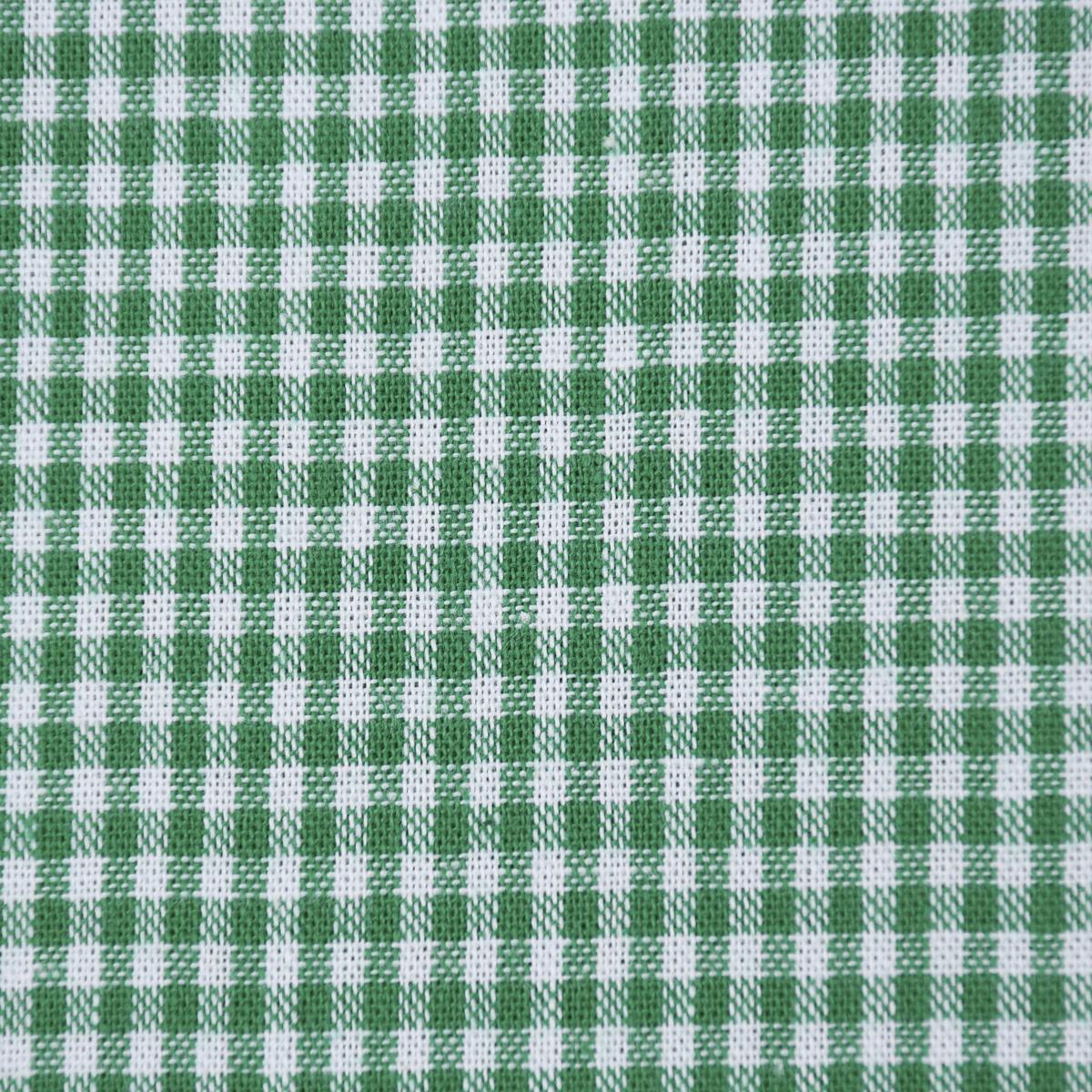 Baumwollstoff kariert weiß grasgrün 2mm 1,4m Breite