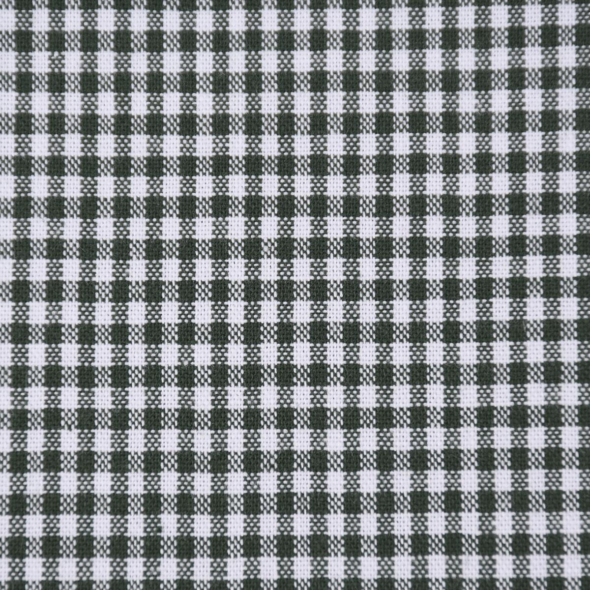 Baumwollstoff kariert weiß dunkelgrün 2mm 1,4m Breite
