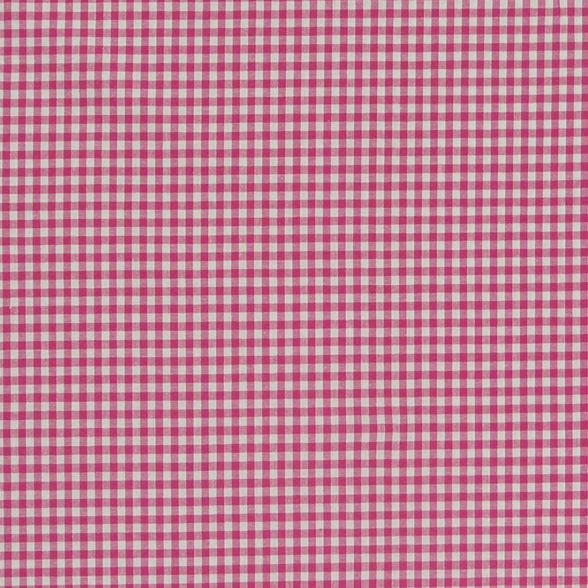 Baumwollstoff kariert weiß pink 5mm