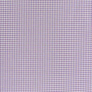 Baumwollstoff kariert weiß lila 5mm