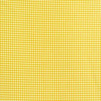 Baumwollstoff kariert weiß gelb 5mm