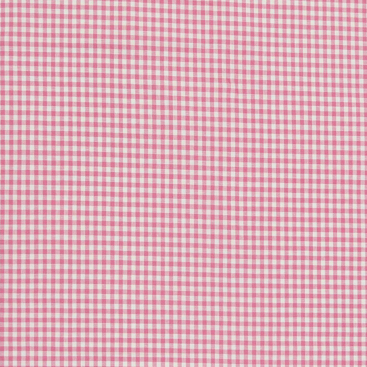 Baumwollstoff kariert weiß rosa 5mm