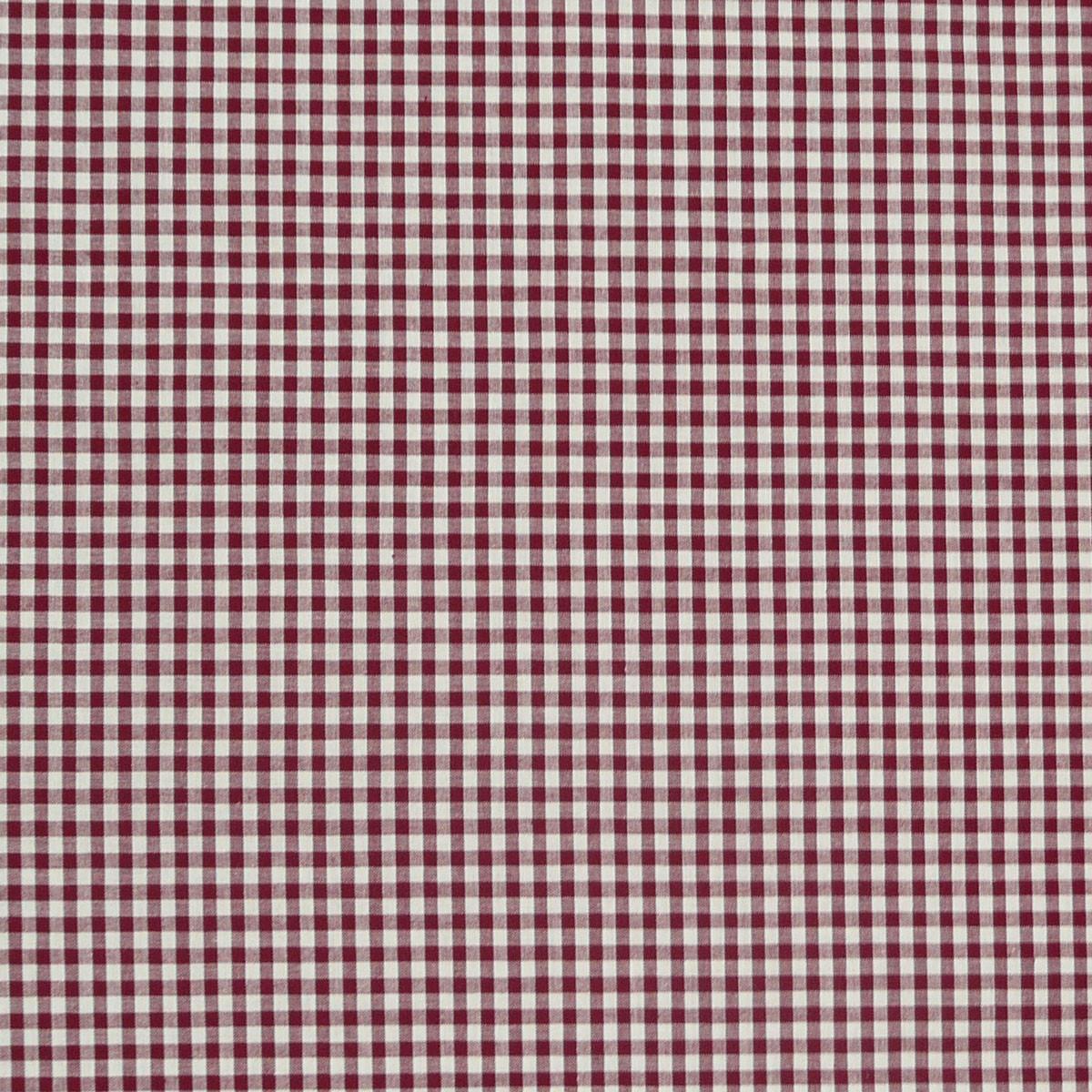 Baumwollstoff kariert weiß dunkelrot 5mm 1,4m Breite