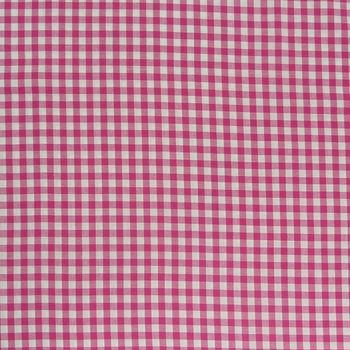 Baumwollstoff kariert weiß pink 9mm
