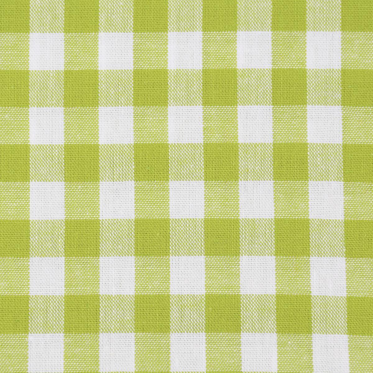Baumwollstoff kariert weiß apfelgrün 9mm