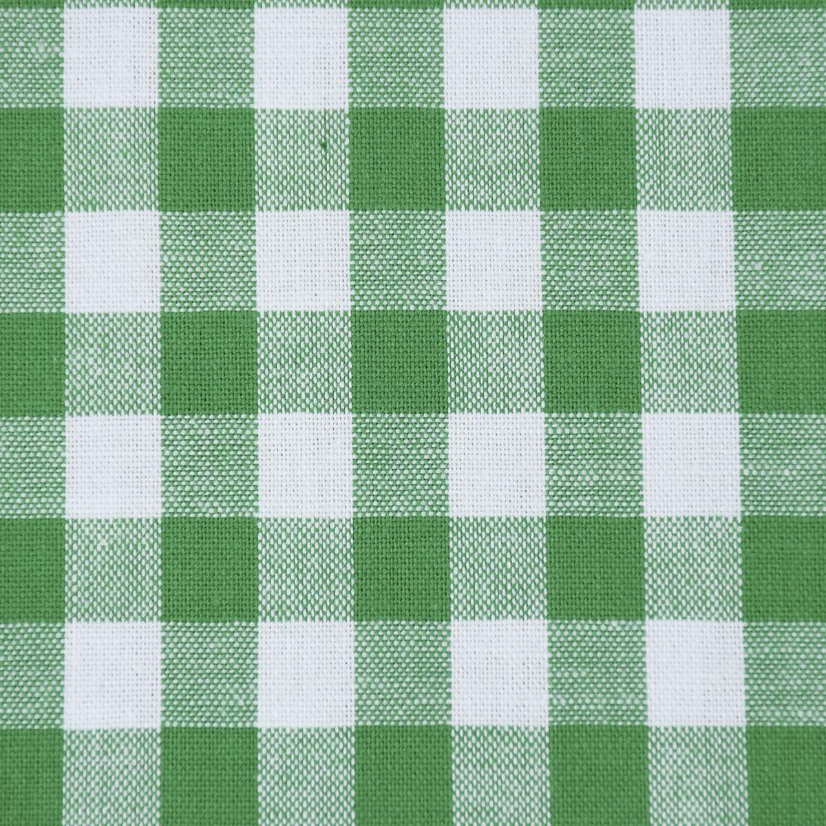 Baumwollstoff kariert weiß grün 9mm