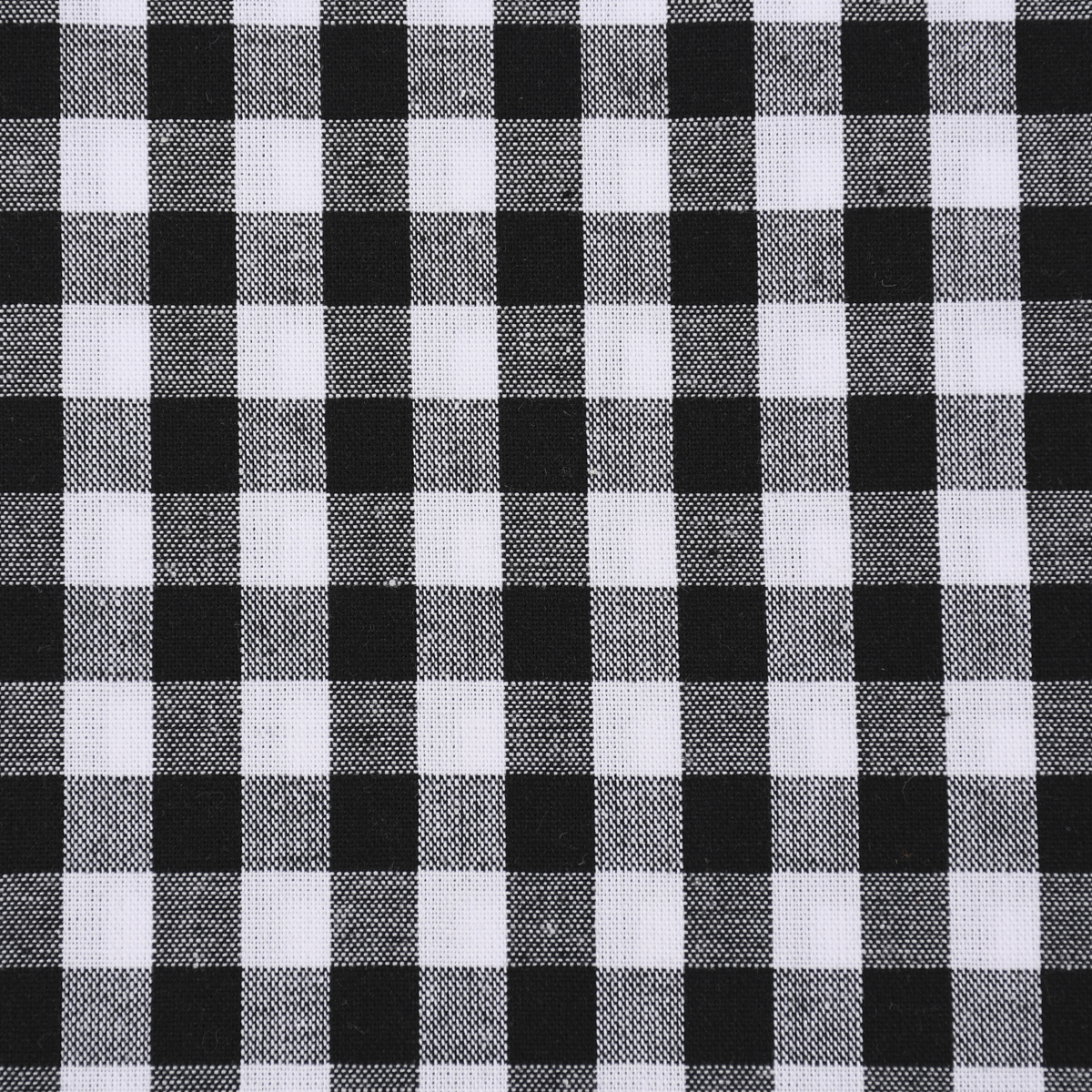 Baumwollstoff kariert weiß schwarz 9mm