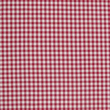 Baumwollstoff kariert weiß rot 9mm 1,4m Breite