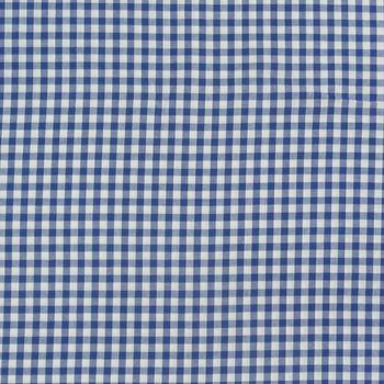 Baumwollstoff kariert weiß royalblau 9mm