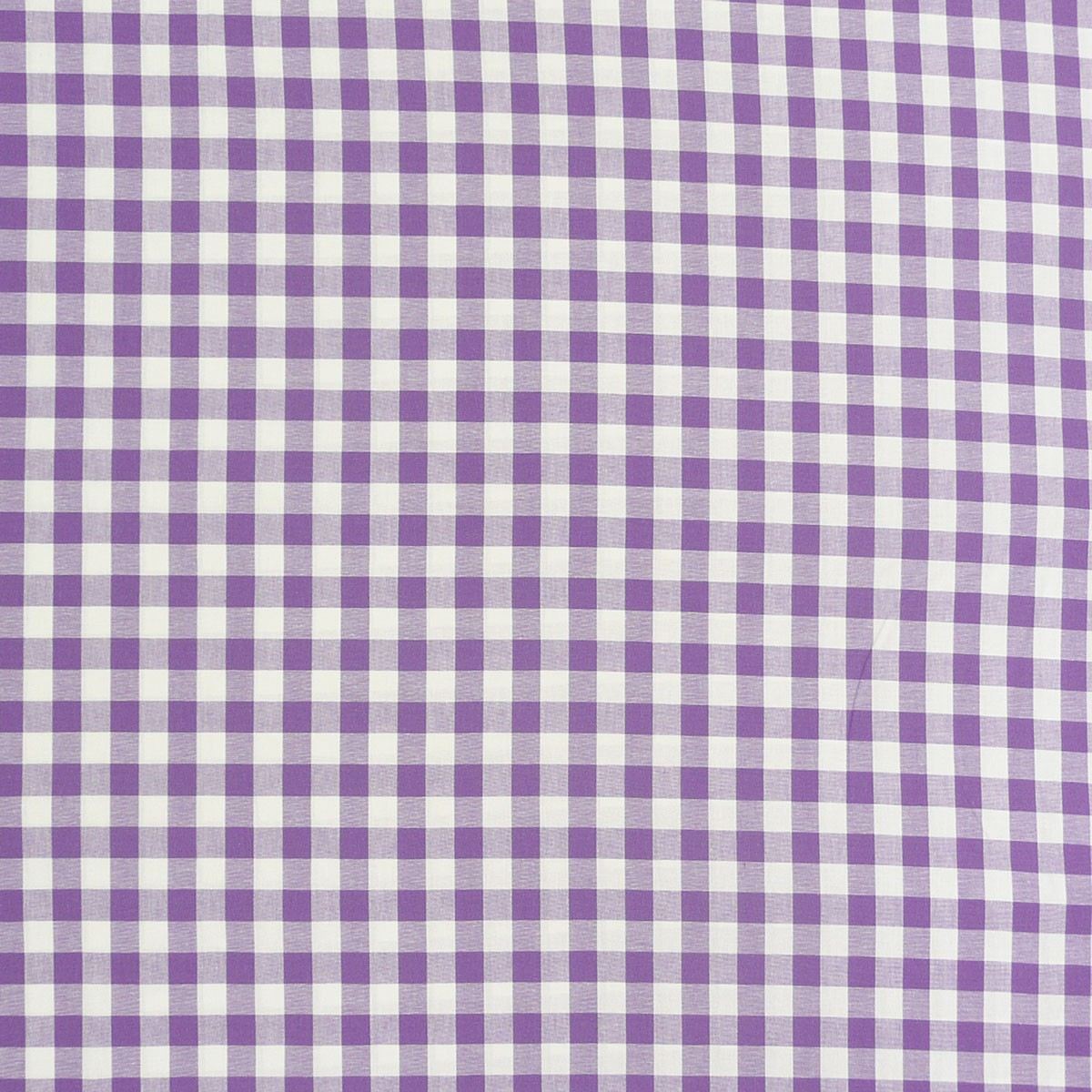 Baumwollstoff kariert weiß lila 16mm 1,4m Breite
