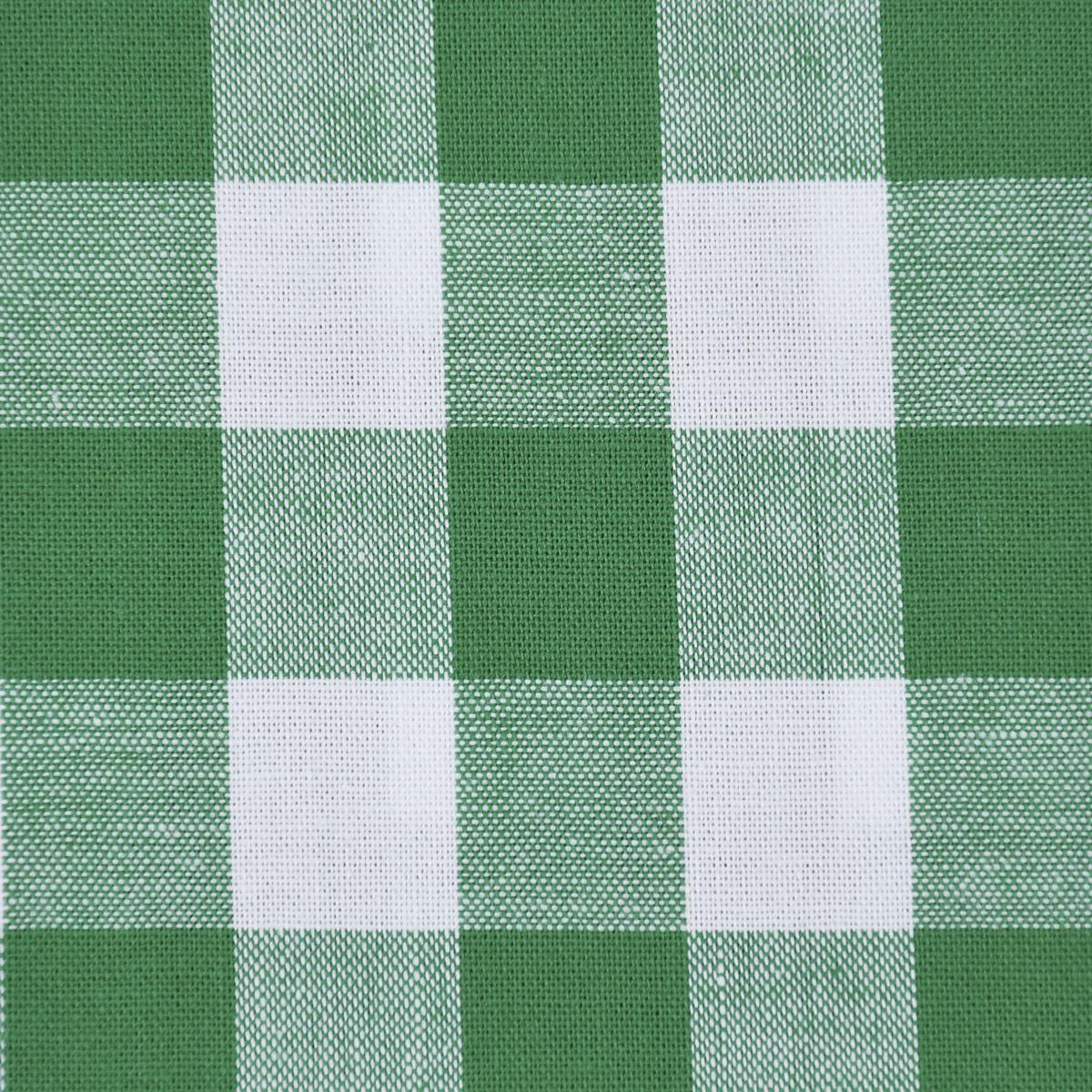 Baumwollstoff kariert weiß grasgrün 16mm
