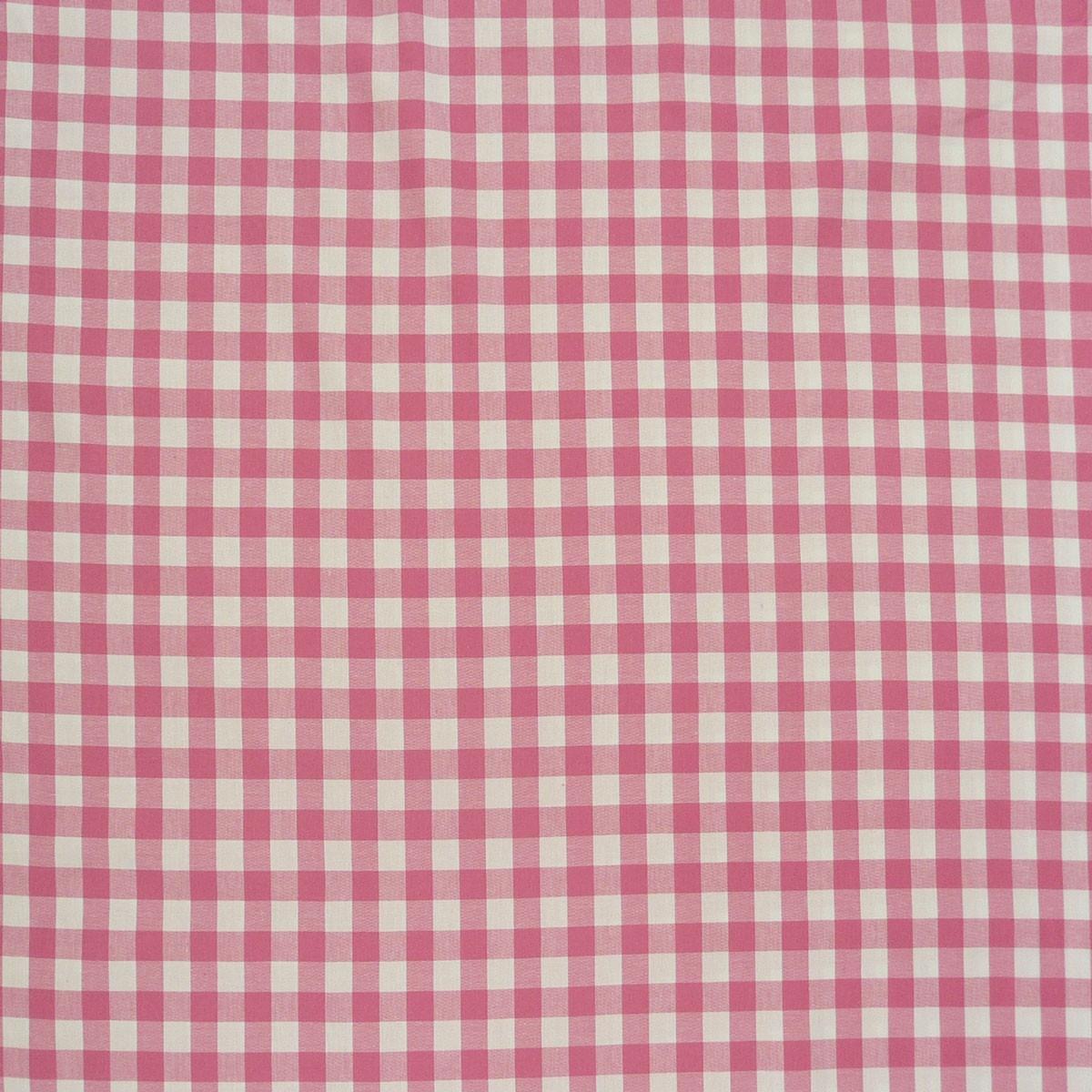 Baumwollstoff kariert weiß rosa  16mm 1,4m Breite