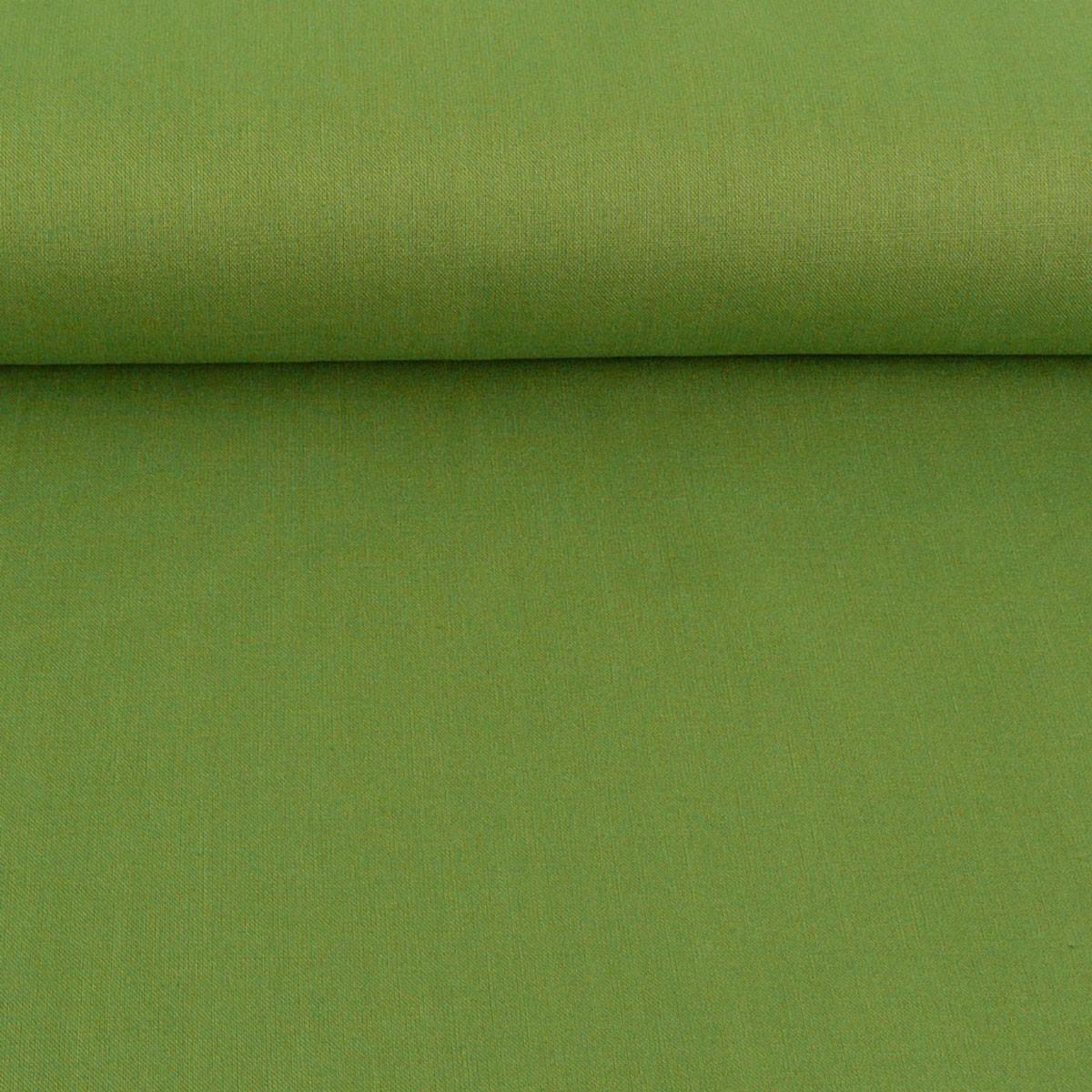 Kreativstoff Baumwollstoff Fahnentuch einfarbig oliv grün 1,45m Breite