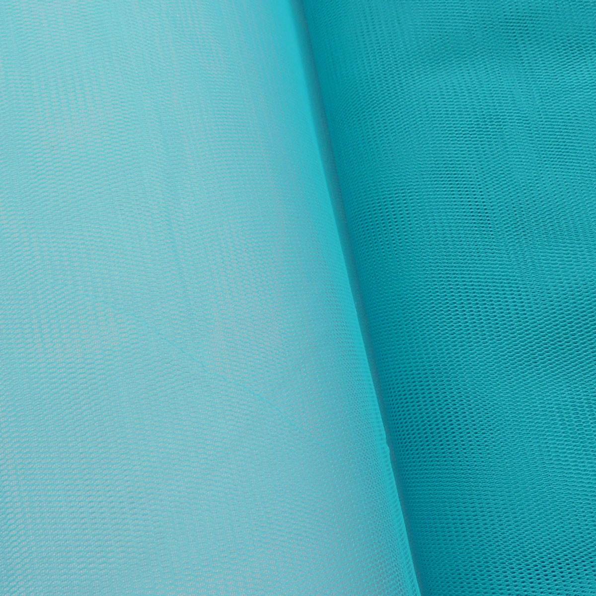 Kreativstoff Tüll Polyester türkis 1,4m Breite