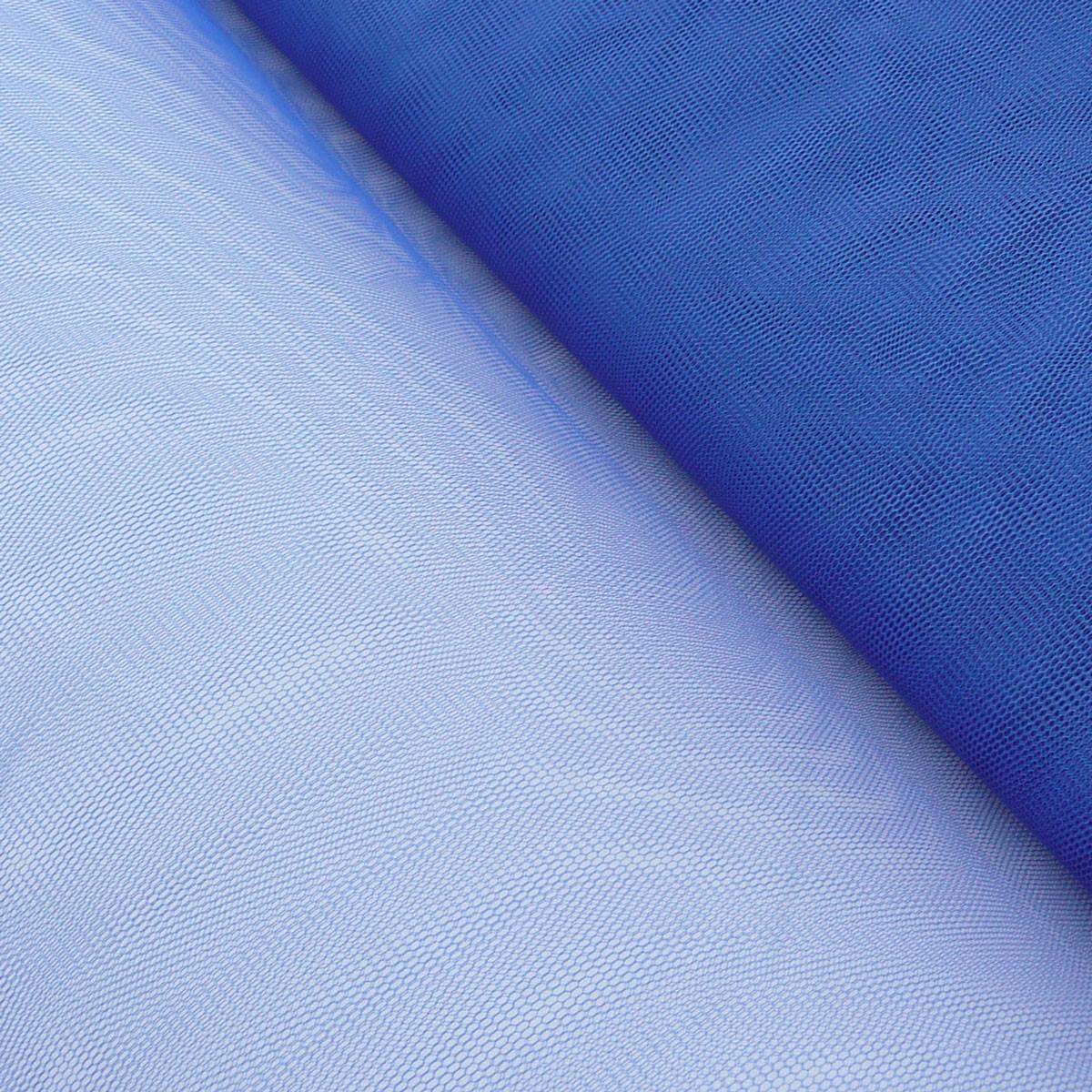 Kreativstoff Tüll Polyester königsblau 1,4m Breite