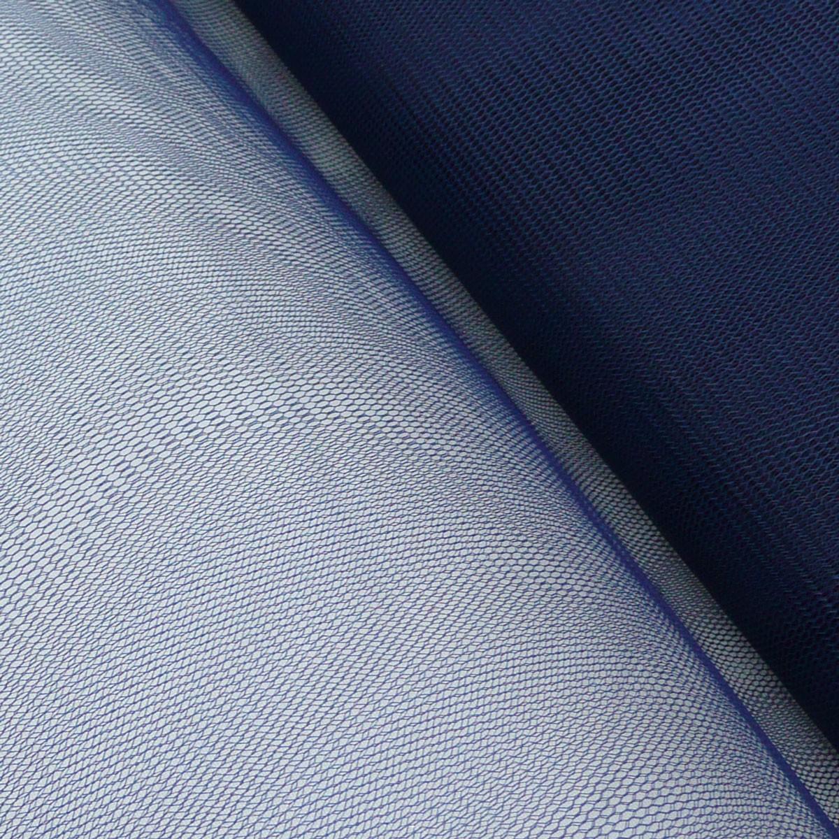 Kreativstoff Tüll Polyester dunkelblau 1,4m Breite