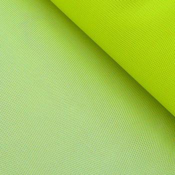Kreativstoff Tüll Polyester neon gelb 1,4m Breite