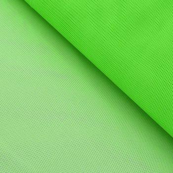 Kreativstoff Tüll Polyester neon grün 1,4m Breite