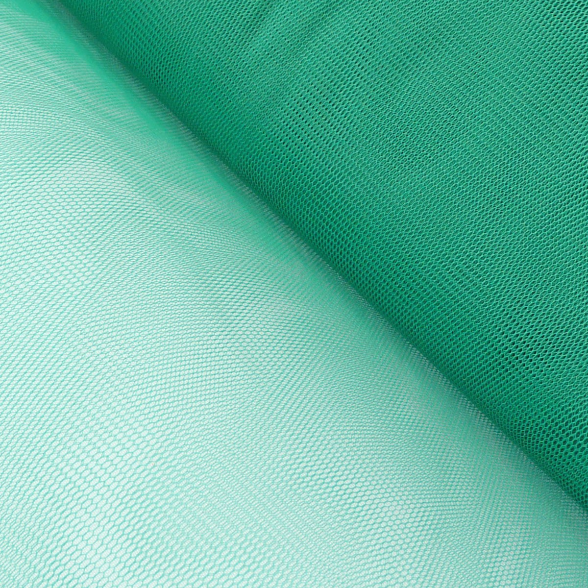 Kreativstoff Tüll Polyester dunkelgrün 1,4m Breite