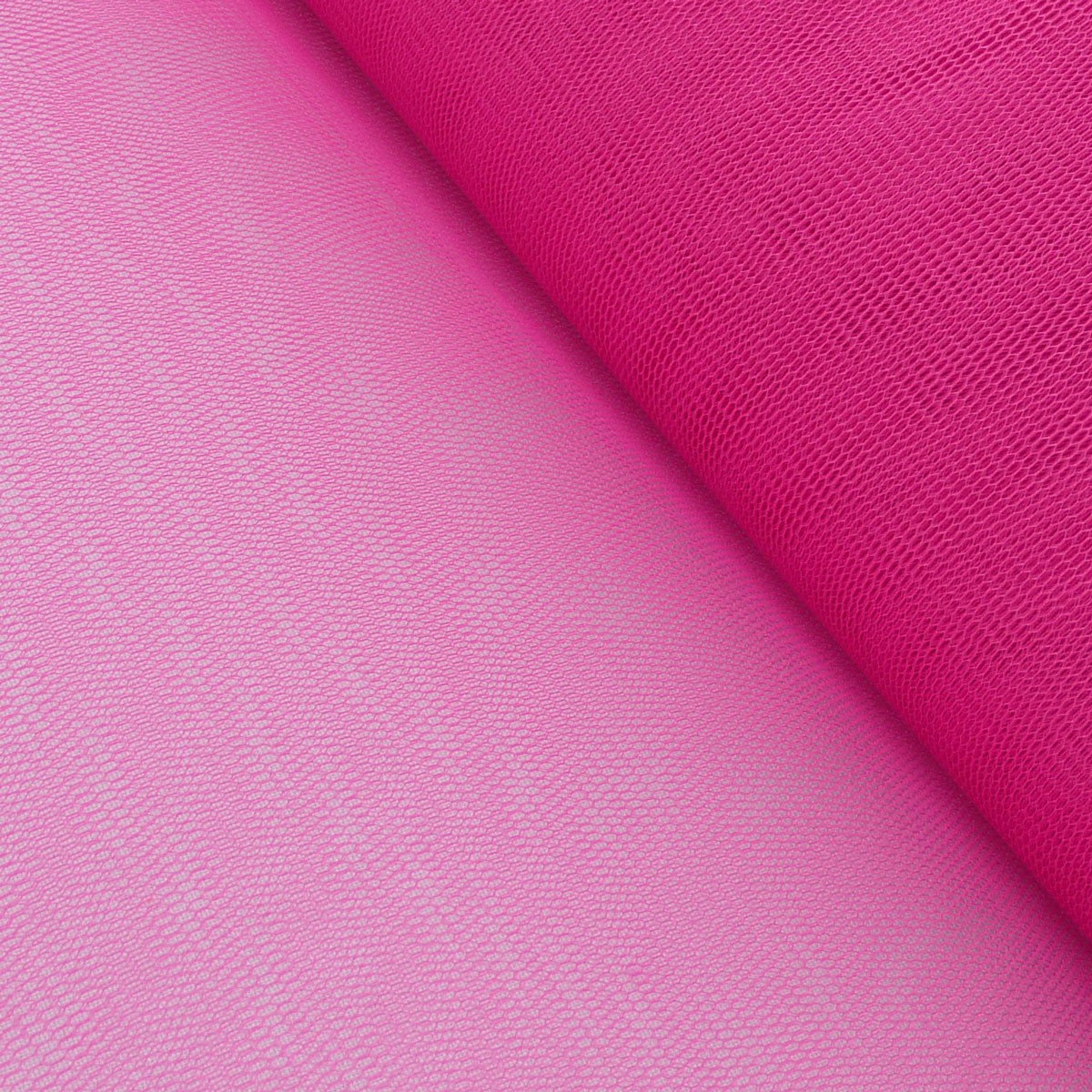 Kreativstoff Tüll Polyester pink beere 1,4m Breite